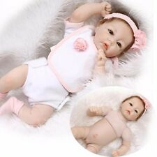 Realistic Newborn Girl Baby Cloth Body Silicone Handmade Reborn Dolls 52cm