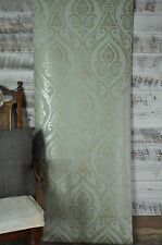 York Wallcoverings Metallic Bronze and Silver Damask on Blue Green Wallpaper Diy
