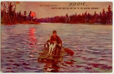1908 Valentine Sporting Series- Hunter And Dogs On The Way To The Hunting Ground