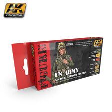 AK Interactive AK 3070 US ARMY SOLDIER UNIFORM COLORS Acrylic Paint Set