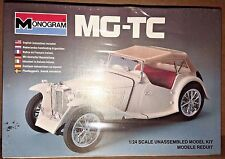 Vintage 1982 Monogram MG-TC British Sports Car 1/24 Model Kit Sealed Box 2290