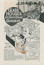 1936 Magazine Article How To Build Greenhouse for Home Gardening Garden