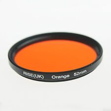 RISE UK 52mm Full Orange Color Gel Filter for Canon Nikon Fuji Samsung Lens