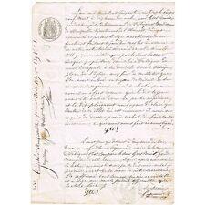 Procés signé du Garde Champêtre Benoît GROS par Jacques LACOUR de FABRÈGUES 1869