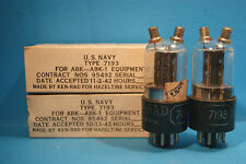 2 X 7193  Ken Rad triodo anno 1942/43 made in USA  tube valve Valvula
