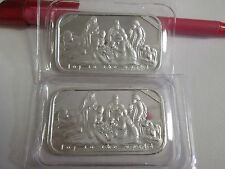 2015 Joy to the World Nativity  2 x  1 oz  .999 Fine Silver Bars