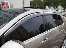 4pcs Injected Sun Visor Window Deflectors For VW Golf 7 GTI R MK7 VII 2014 2015