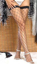 Large Fence Net Thigh High Stockings: one size, As shown