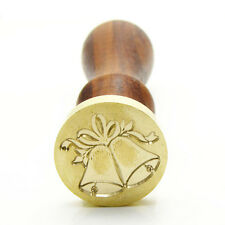 Christmas Bell Personalized Custom Vintage Gold Plated Wax Seal Sealing Stamp