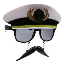 Navy Hat Anchor with Mustache Party Glasses Fancy Dress Costume Sunglasses