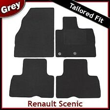 Renault Scenic Tailored Fitted Carpet Car Mats GREY (2009 2010 2011 2012 ...)