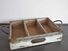 Londres en bois vintage mobilier ancien de rangement caisse boîte outils de jardinage cuisine 48cm