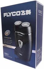 Man's travel rotary rechargeable double heads electric shavers FLYCO black