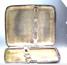 Antique Vintage Dented Sterling Silver Cigarette Case Engraved Initials #X706
