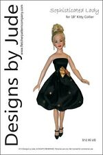 "Sophisticated Lady Doll Clothes Sewing Pattern for 18"" Kitty Collier Tonner"