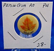 Maple Leaf American Pepsin Gum Co Advertising Pin Pinback Button 7/8""