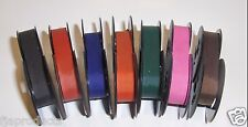 7 Colored Olivetti Portable Typewriter Ribbons in new Colors (Free Ship in USA)