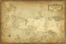 Game of thrones map TV show The Know World Map Art Silk Poster 24x36