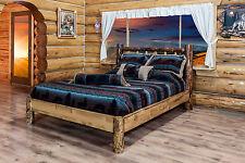 Amish Platform Beds Log FULL Size Bed Solid Pine Rustic Cabin Furniture