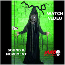 LARGE 2m Animated Haunted Tree- Halloween Decoration Prop MOVES+SOUND Scary!