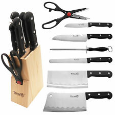 Stainless Steel 8 piece Cutlery Kitchen Dinnerware Chef Knife Knives Block Set