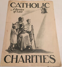 1927 CATHOLIC CHARITIES 14 PAGE BROCHURE  ANNUAL REPORT