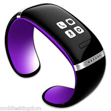 Purple Bluetooth Sport Smart Watch Bracelet Pedometer MIC for Android Cell Phone