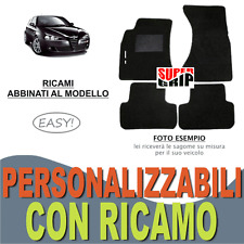 TAPPETINI AUTO SU MISURA PER ALFA ROMEO 147 MOQUETTE + FONDO GOMMA + RICAMO EASY