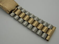 Vintage Drema two tone Gold Filled Deployment watch band bracelet 19mm or 3/4 ""