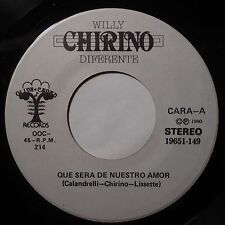 WILLY CHIRINO DIFERENTE: DISCO LATIN BREAKS funk BOOGIE 45 hear it! OBSCURE!