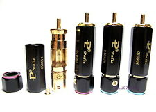 4x PALIC Quality RCA Phono Plugs Locking WBT Heavy Duty Gold Plated Connectors
