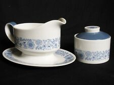 ROYAL DOULTON Cranbourne Collection Combined Gravy Boat and Stand w/Sugar Bowl