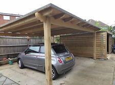 large 6m X 6m wooden pergola, Oversized Pergola, Large Car-port/Smoking Shelter