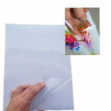 10x A4 Transparent Clear Glossy Self Adhesive Sticker Paper Label Inkjet Print U