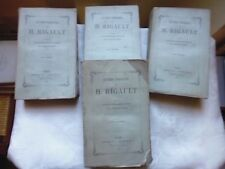 RIGAULT   - OEUVRES COMPLETES. 4 Tomes.   Hachette, 1859