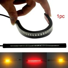 48LED Motorcycle Flexible Strip Light Brake Tail Lamp Turning Turn Signal Lights