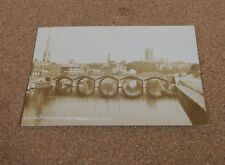 Worcester Bridge From Electricity Works Real photo sepia posted 1913 xc1