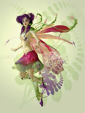 PAINTING CGI PURPLE PIXIE FAIRY WEIRD COOL SURREAL POSTER PRINT BMP10367