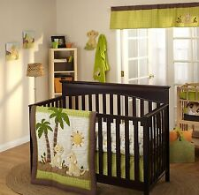5-Pc Disney Lion King Jungle Wild About You Baby Unisex Crib Bedding Bumper Set