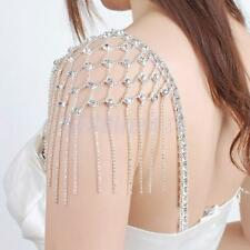 2Pcs Rhinestone Crystal Bead Adjustable Bra Strap Diamante Bridal Dress Belt