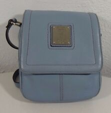 Tignanello women's genuine leather cross body bag blue