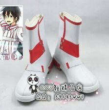 Sword Art Online Kirito White Short Cosplay Shoes Boots X002