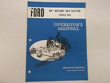 Ford Tractor 60 Inch Rotary Hay Cutter Series 505 Operator's Manual