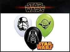 """5"""" Pulgadas Star Wars Caras Globos Látex Fiesta Cumpleaños Paquete De 10"""