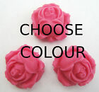 CHOOSE COLOUR 12 ROSE BUDS edible sugar cake decoration toppers flowers 2.5cm