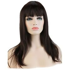 Women Long Pink Purple White Wine Red Hair Wigs Cosplay Party Synthetic Full Wig