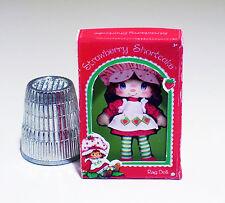 Dollhouse Miniature Strawberry Shortcake Rag Doll Box - 1980s Dollhouse  1:12