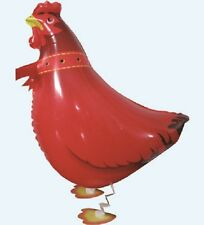 CHICKEN / HEN WALKING BALLOON FOIL HELIUM PET PARTY BIRTHDAY AIRWALKER NEW FARM