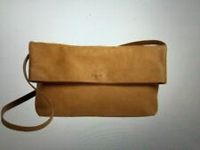authentic AGNES B tan suede bag new w receipt $450+ tax made in France