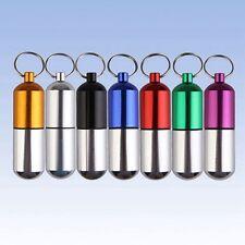 1 Stück Tablettendose Pillendose Schlüsselanhänger Aluminium Medikamenten Box
